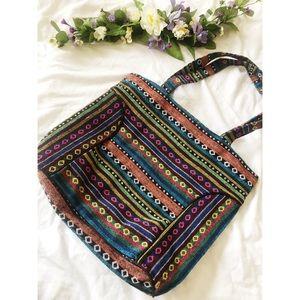 Tribal boho style bag